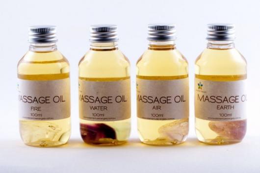 O que colocar na Caixa dos 5 Sentidos visão óleo de massage