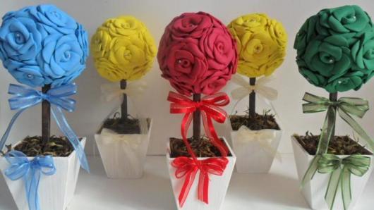 Como Fazer Lembrancinhas de Casamento arranjo de flor