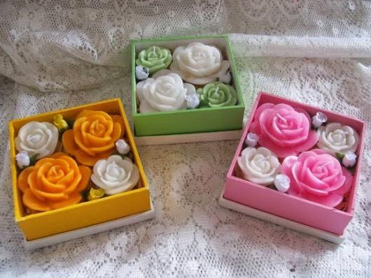 Como Fazer Lembrancinhas de Casamento sabonete formato de rosa