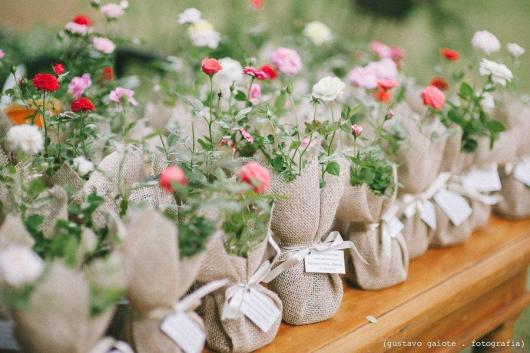 Como Fazer Lembrancinhas de Casamento mini rosas