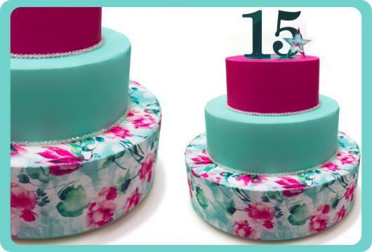 Como fazer um bolo fake de Tecido com 3 andares