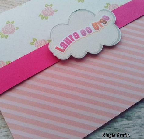 convite rosa personalizado