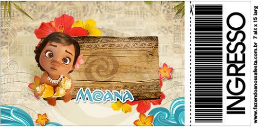 Convite Moana baby ingresso