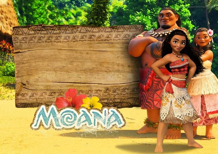 Convite Moana modelo para imprimir