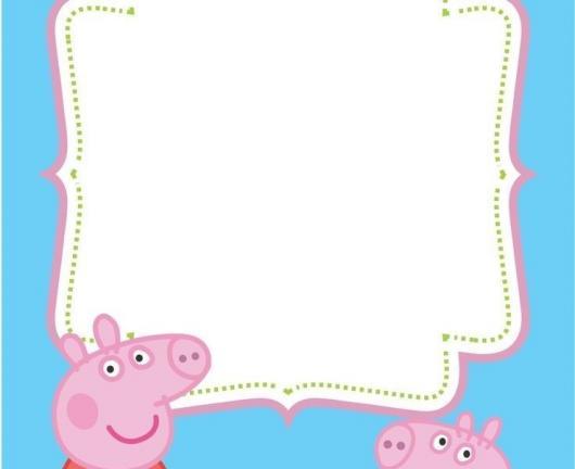 convite Peppa Pig modelo para preencher