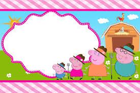 convite Peppa Pig arte para fazer convite