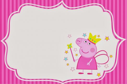 convite Peppa Pig pronto para imprimir