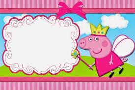 convite Peppa Pig para preencher