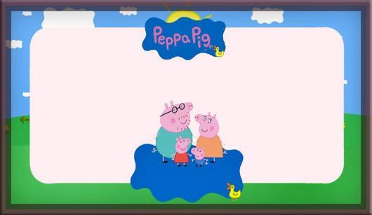 convite Peppa Pig para imprimir em casa