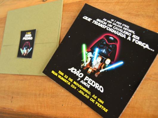 convite star wars feito na gráfica