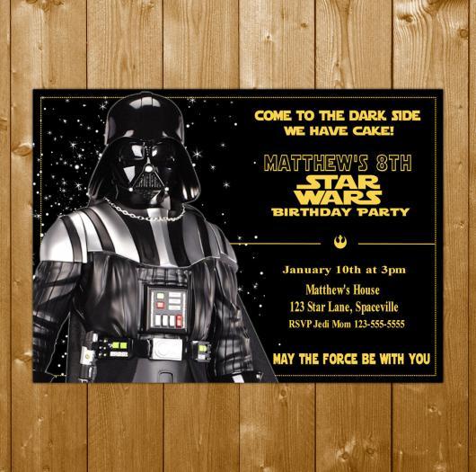 convite star wars darth vader