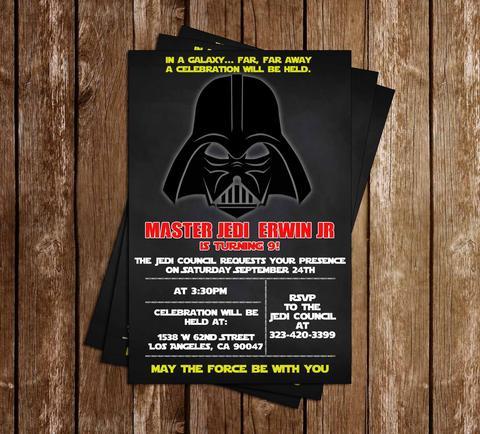 convite star wars máscara darth vader