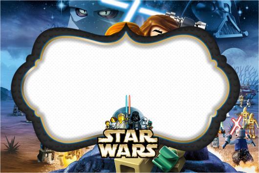 arte para preencher convite star wars