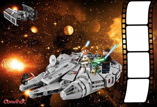 arte convite star wars lego