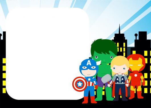 Convite Vingadores 60 Ideias Incríveis Modelos Para Imprimir Grátis