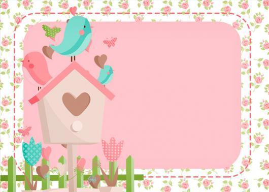 Convites Jardim Encantado provençal rosa