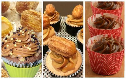 São muitas ideias de cupcake de churros para você se arriscar!