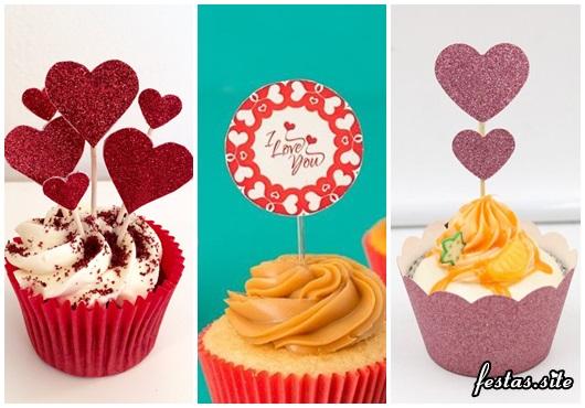 Fotos e Ideias de Cupcake Dia dos Namorados