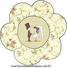 Cupcake para Casamento modelo de topper para decorar