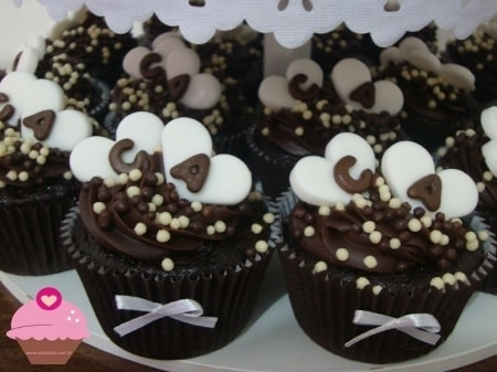 Cupcake para Casamento com chocoball