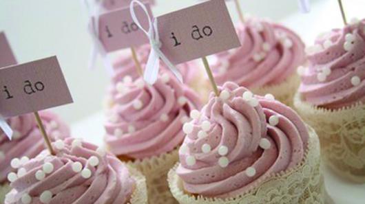 Cupcake para Casamento com glacê rosa