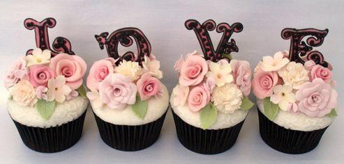 Cupcake para Casamento com frase