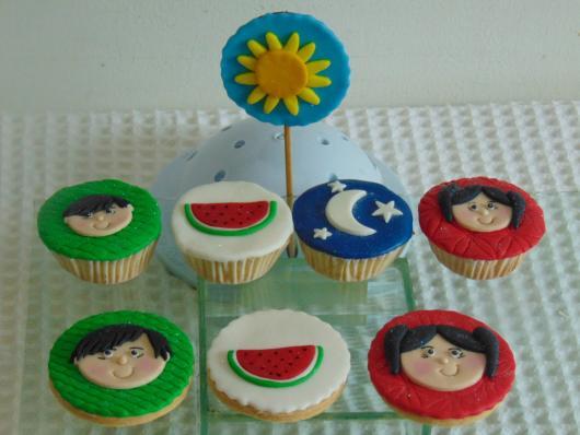 cupcake Show da Luna feito em casa