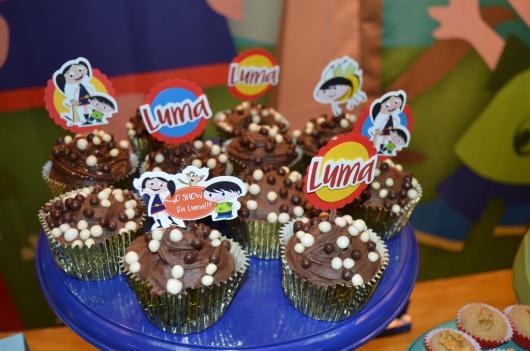 cupcake Show da Luna com chocolate