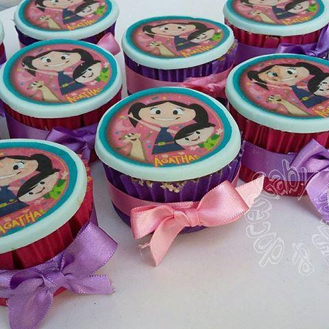 cupcake Show da Luna com papel de arroz