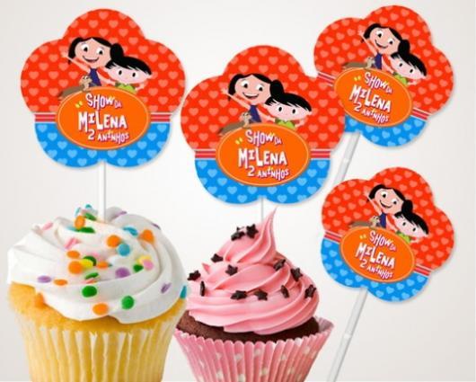 cupcake Show da Luna com topo personalizado