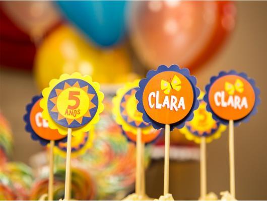 topper personalizado para cupcake Show da Luna
