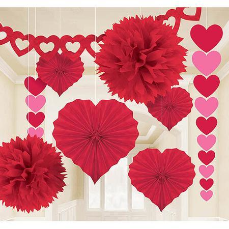 Decoração Dia dos Namorados de papel flores de papel