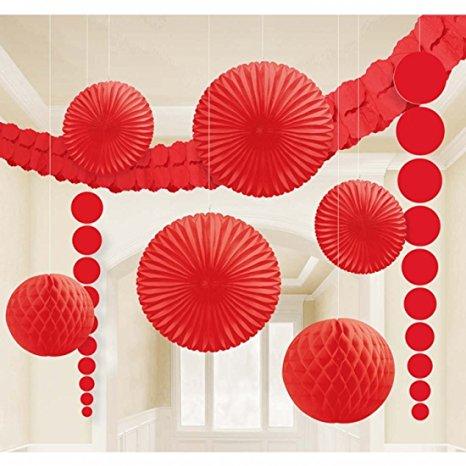 Decoração Dia dos Namorados de papel cortina de flores de papel