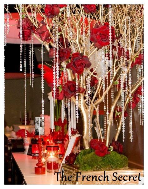 Decoração Dia dos Namorados de papel arvore de rosas