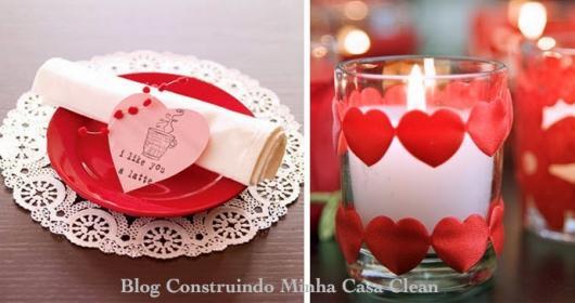 Decoração Dia dos Namorados de papel copo com vela