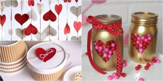 Decoração Dia dos Namorados simples pote personalizado