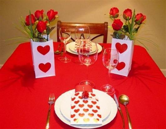 Decoração Dia dos Namorados simples jantar