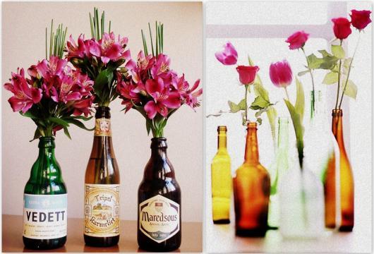 Decoração Dia dos Namorados simples com garrafa personalizada