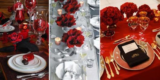 Decoração Dia dos Namorados no jantar com flores e taças