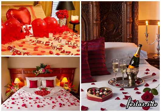 Decoração Dia dos Namorados no quarto modelos