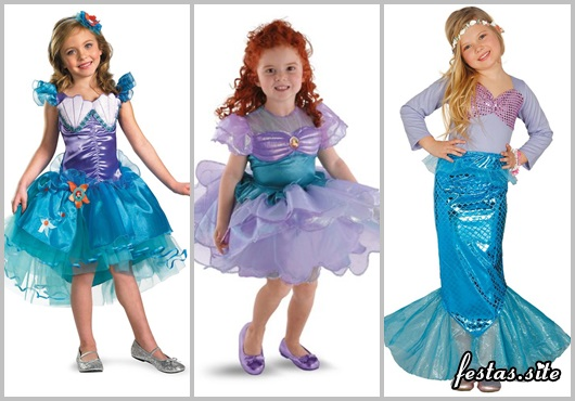 Fotos e Ideias de Fantasia Ariel