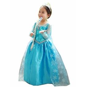 Fantasia da Frozen infantil para menina de 5 anos