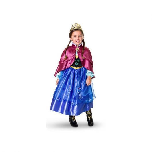 Fantasia da Frozen personagem Anna com coroa