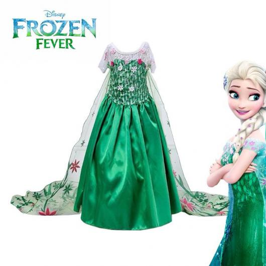 Fantasia da Frozen Fever com capa de tule florida