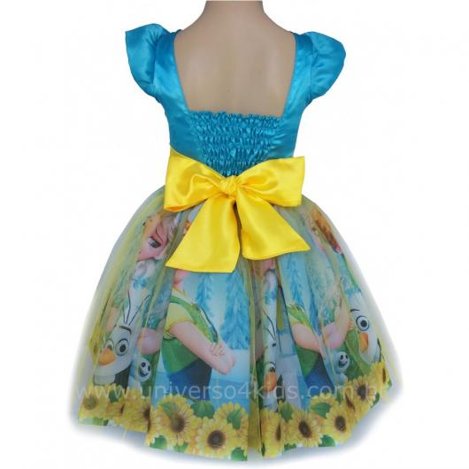 Fantasia da Frozen Fever estampada