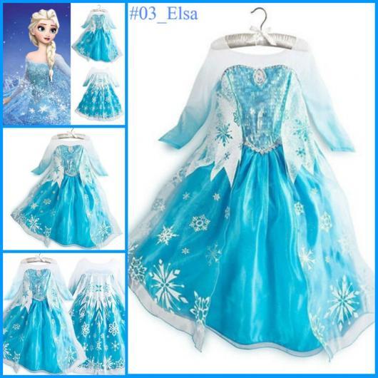Fantasia da Frozen Elsa com estampa de flocos de gelo na capa