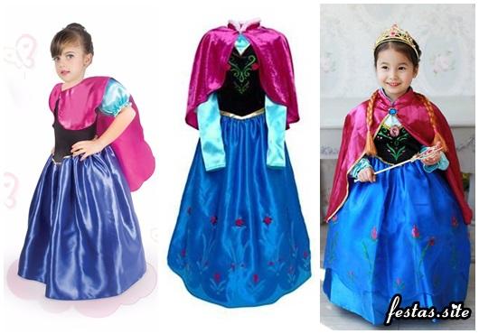 Fantasia da Frozen personagem Anna modelos