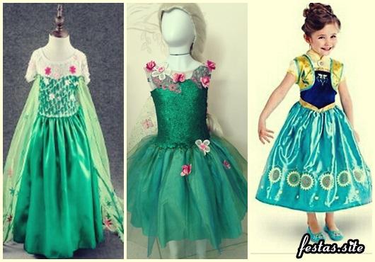 Fantasia da Frozen Fever modelos com flores