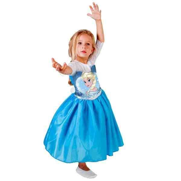 Fantasia da Frozen Elsa vestido rodado