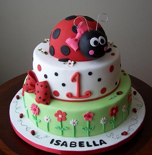 bolo para festa da joaninha